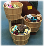 Baskets of Fat Quarters